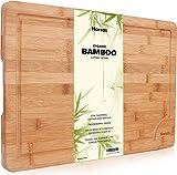 Premium Organic Bambus Schneidebrett von Harcas. Extra große...