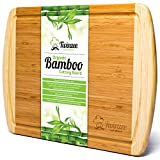 Extragrosses Bio Bambus Schneidebrett mit...